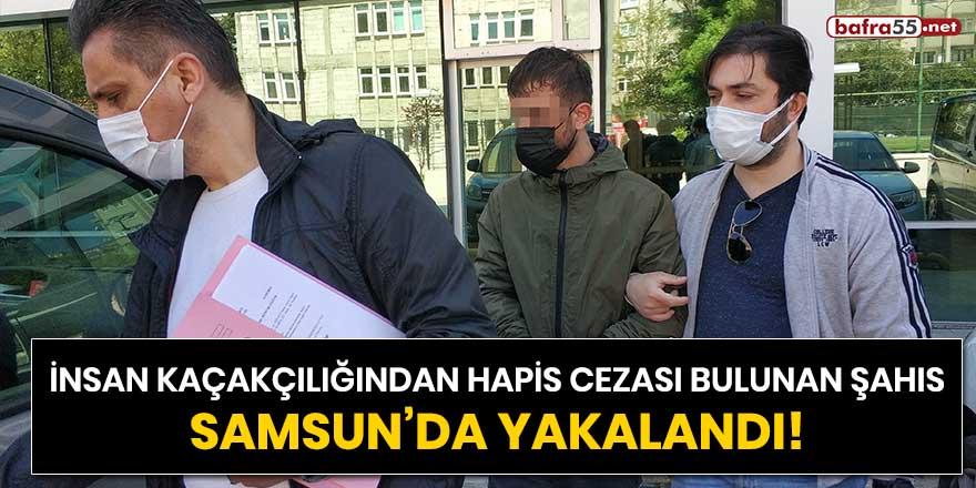 İnsan kaçakçılığından hapis cezası bulunan şahıs Samsun'da yakalandı!