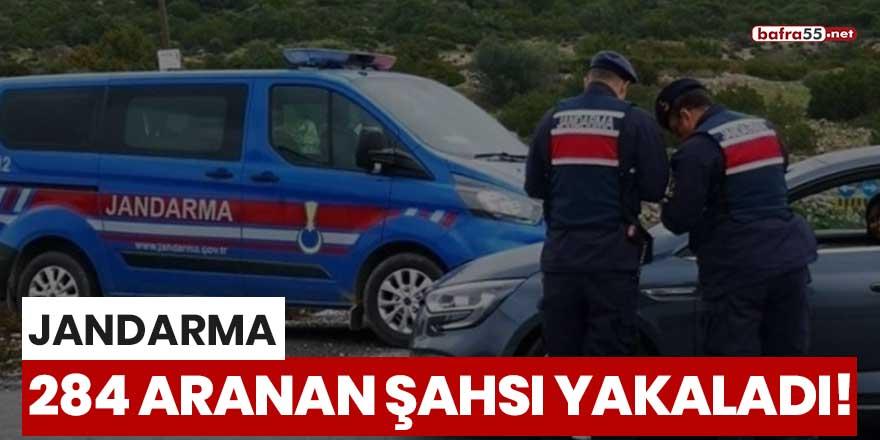 Jandarma 284 aranan şahsı yakaladı!