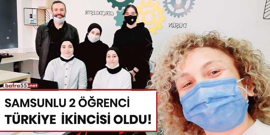 Samsunlu 2 öğrenci Türkiye ikincisi oldu