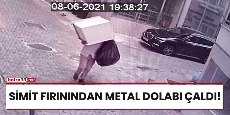 Simit fırınından metal dolabı çaldı!