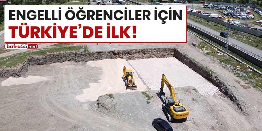 Engelli öğrenciler için Türkiye'de ilk!