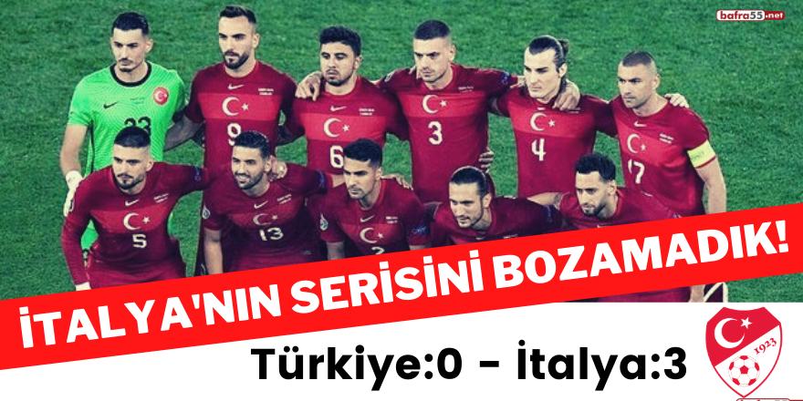 İtalya'nın serisini bozamadık! Türkiye: 0 - İtalya: 3