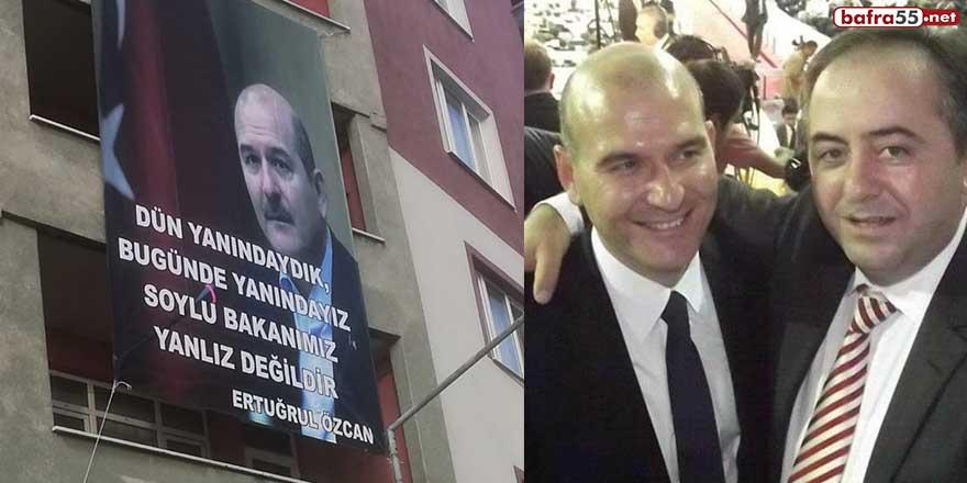 Soylu'ya Türkeli'den destek pankartı