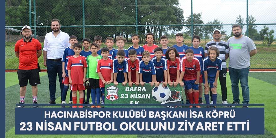 Hacınabispor Kulübü Başkanı İsa Köprü'den gençlere destek