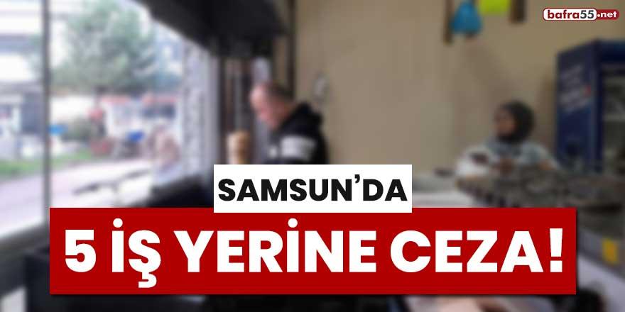 Samsun'da 5 iş yerine ceza!