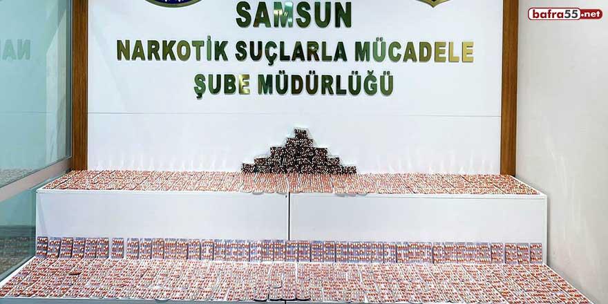 Samsun'da 7 bin 756 adet uyuşturucu hap ele geçti!