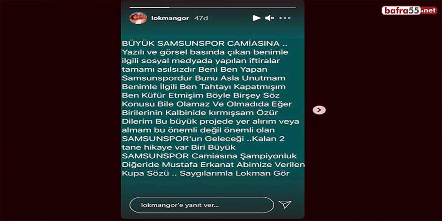 """Lokman Gör: """"Önemli olan Samsunspor'un geleceği"""""""