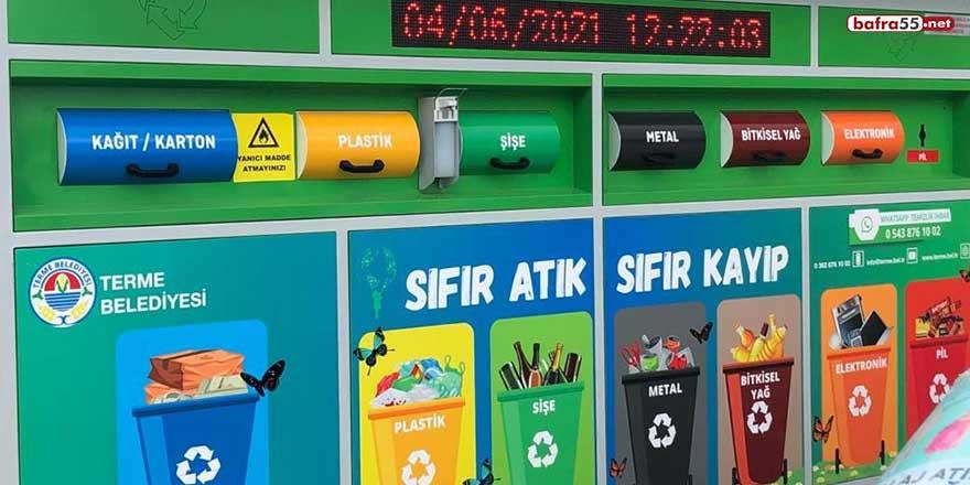 Samsun'daki sıfır atık kumbara ve konteyner sayıları hızla artıyor