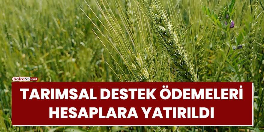 Tarımsal destek ödemeleri hesaplara yatırıldı