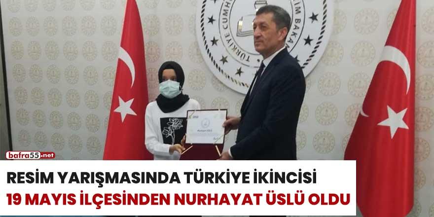 Resim yarışmasında Türkiye ikincisi 19 Mayıs ilçesinden Nurhayat Üslü oldu