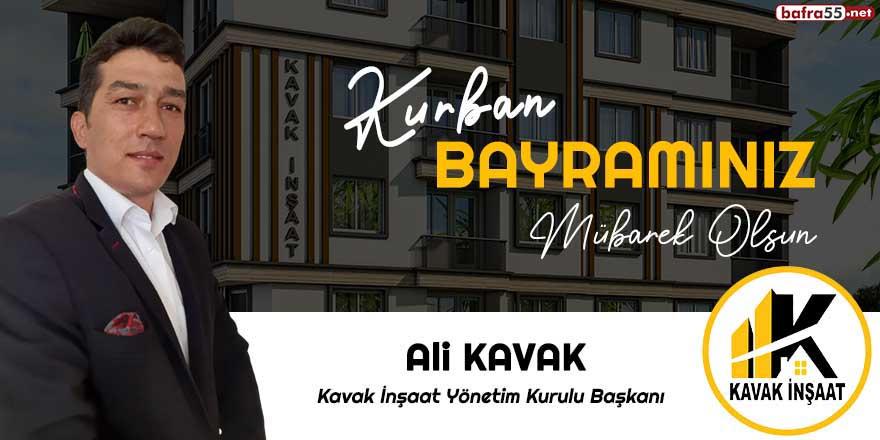 Ali Kavak'tan Kurban Bayramı tebriği