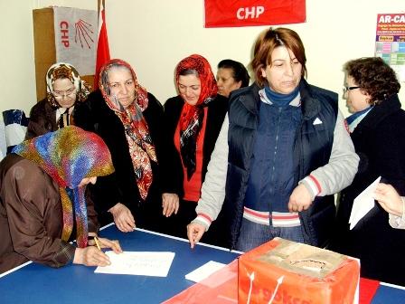 CHP Bafra  Kadın Kolları Seçimi Yapıldı