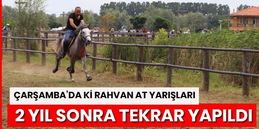 Çarşamba'da Rahvan atlar yarıştı