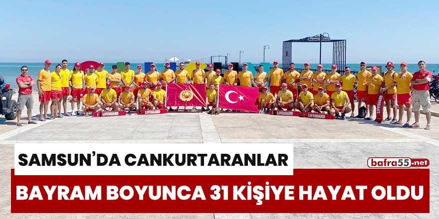 Samsun'da cankurtaranlar bayram boyunca 31 kişiye hayat oldu