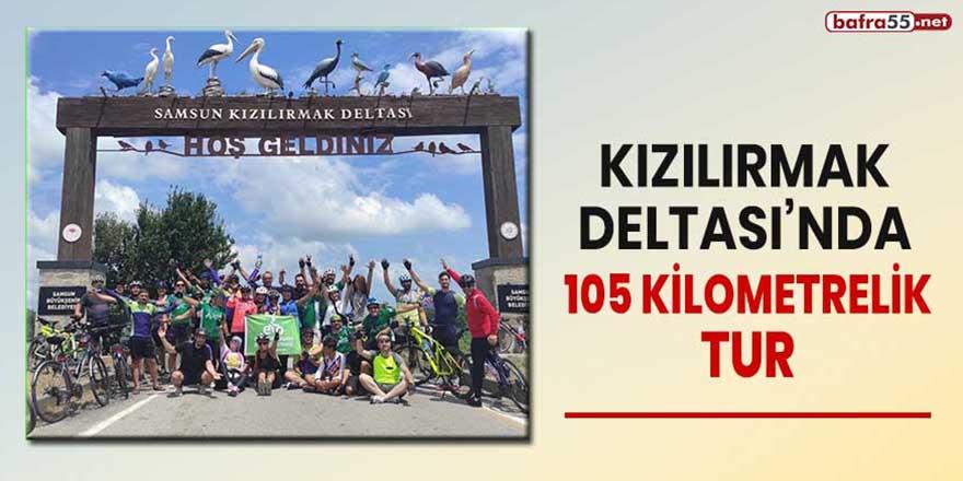 Kızılırmak Deltası'nda 105 kilometrelik tur