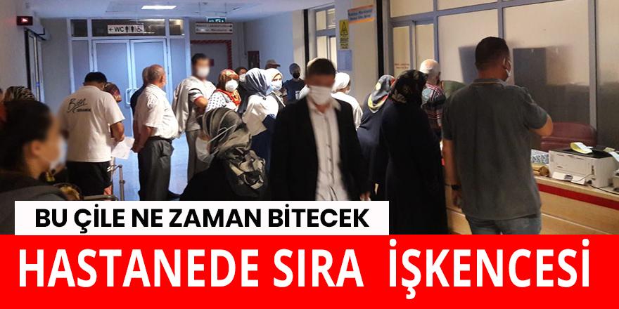 Bafra Devlet Hastanesinde kuyruk çilesi