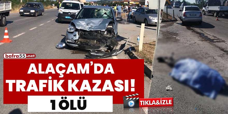 Alaçam Yenice Sapağında trafik kazası: 1 ölü