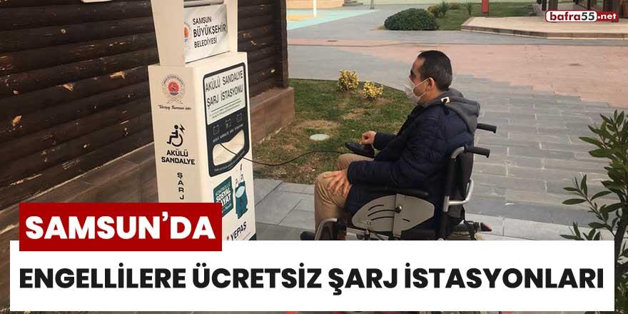 Samsun'da engellilere ücretsiz şarj istasyonları