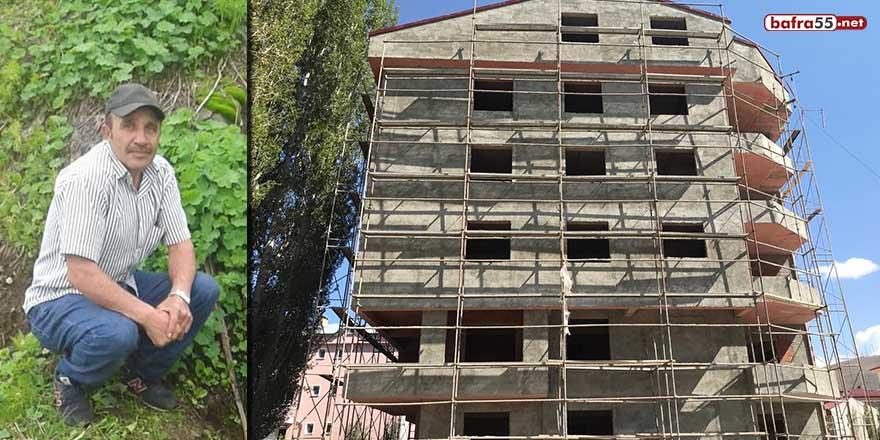 Bayburt'ta inşaatın asansör boşluğuna düşen işçi hayatını kaybetti