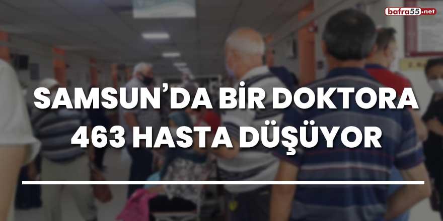 Samsun'da bir doktora 463 hasta düşüyor