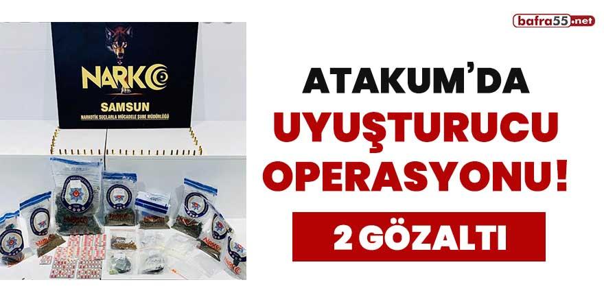Atakum'da uyuşturucu operasyonu! 2 gözaltı