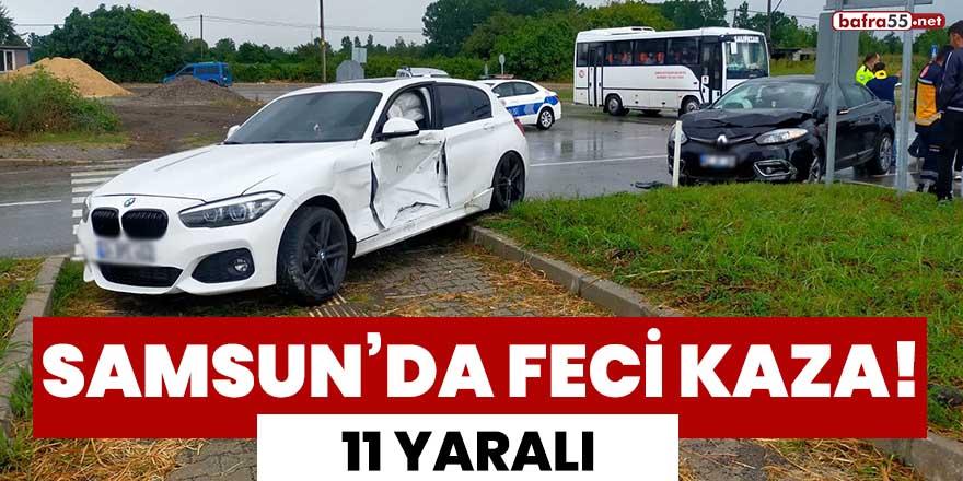 Samsun'da feci kaza! 11 yaralı