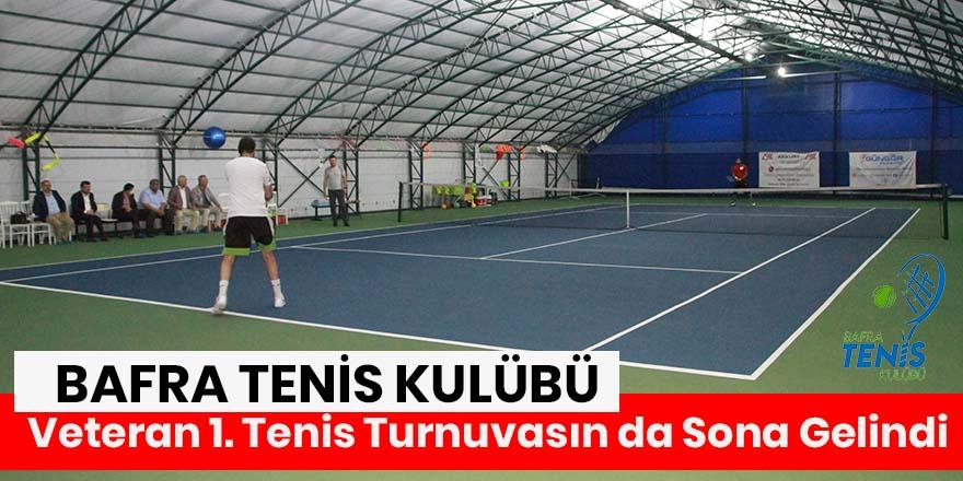 Veteran 1. Tenis Turnuvası Final Maçı Çarşamba Günü