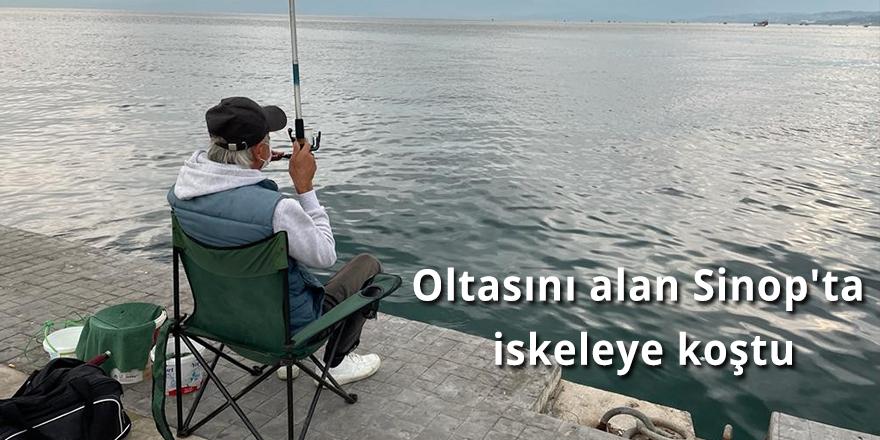 Oltasını alan Sinop'ta iskeleye koştu