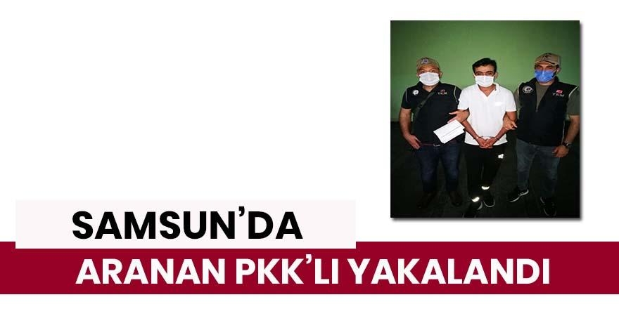 Samsun'da 4 yıl 8 ay cezası bulunan PKK'lı yakalandı