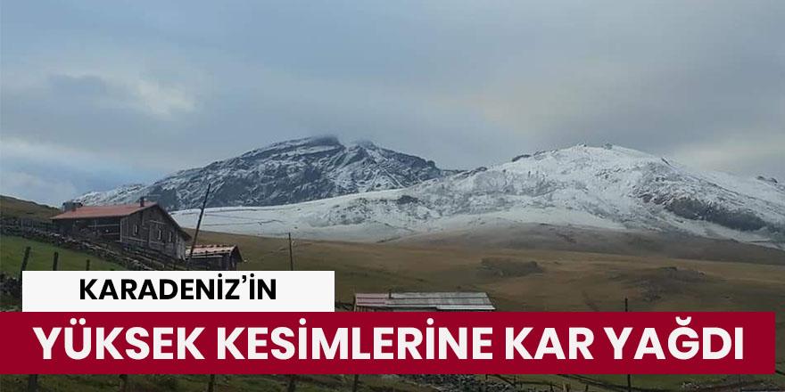 Karadeniz'in yüksek kesimlerine kar yağdı