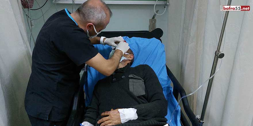 Samsun'da patpat şarampole yuvarlandı: 1 yaralı