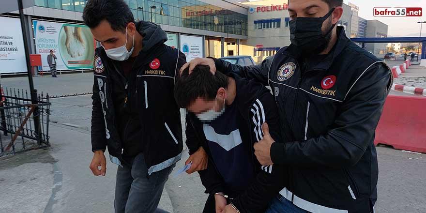 Samsun'da sokak satıcılarına uyuşturucu operasyonu: 7 gözaltı