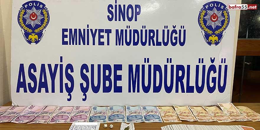 Sinop'ta kumar operasyonu: 13 bin 360 TL para cezası