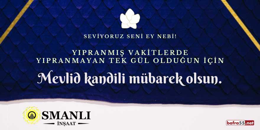 Osmanlı İnşaat'tan Mevlid Kandili mesajı