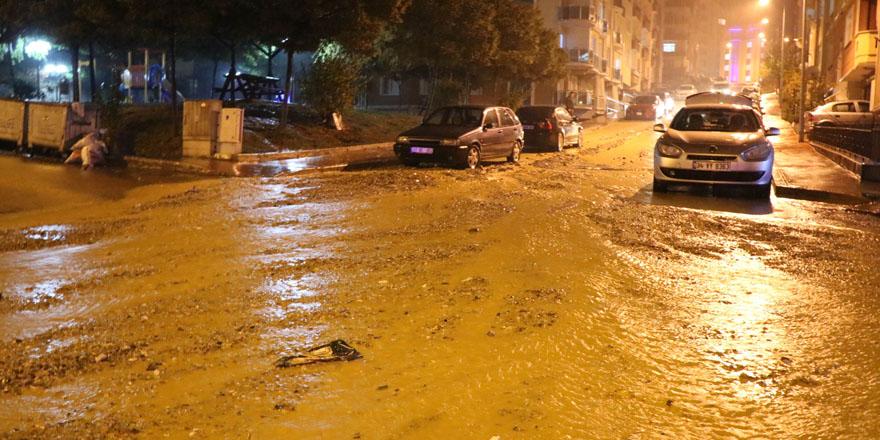 Boyabat'da şiddetli yağış