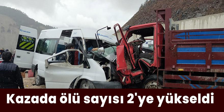 Kazada ölü sayısı 2'ye yükseldi