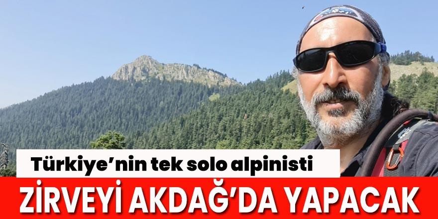 Türkiye'nin tek solo alpinisti 42. zirveyi Akdağ'da yapacak