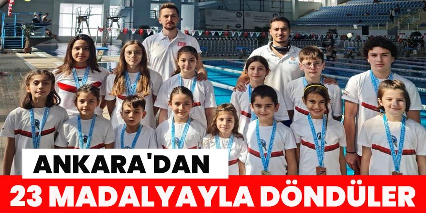 Ankara'dan 23 madalyayla döndüler