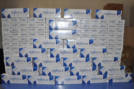 BAFRA'DA 2 BİN 200 PAKET KAÇAK SİGARA ELE GEÇTİ