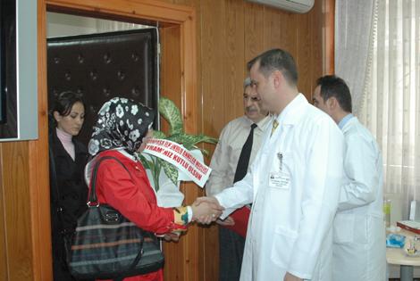 Anneler 14 Mart Tıp Bayramını Bafra Devlet Hastanesinde Kutladı