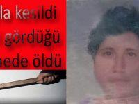 Bafra`da baltayla kesilen kadın öldü