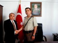 KAYMAKAM HALİS ARSLAN'DAN ÜSTEĞMEN HAKAN ARIKAN'A ZİYARET