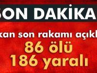 Ankarada patlamada ölü sayısı 86 olarak açiklandı