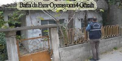 Bafra`da esrara 4 gözaltı