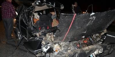 Bafra`da feci kaza 1 kişi ağır yaralandı