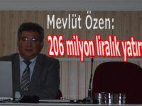 """Mevlüt Özen """"206 milyon liralık yatırımımız var."""""""