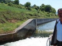 Bafra Ovası'na mevsimin ilk sulama suyu salındı
