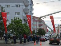 Şehidin sokağı Bayraklar ile donatıldı