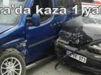 Bafra'da dolmuş kazası 1 yaralı