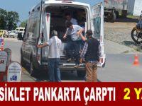 Bafra`da motosiklet kazası : 2 yaralı